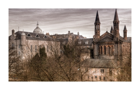 Aberdeen: the view from Union Terrace